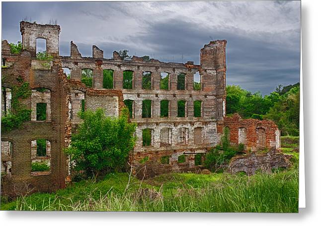 Great Falls Mill Ruins Greeting Card
