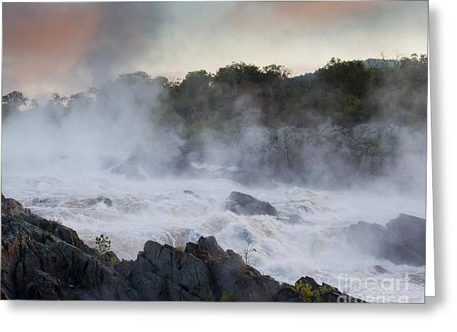Greeting Card featuring the photograph Great Falls Mist by Dale Nelson