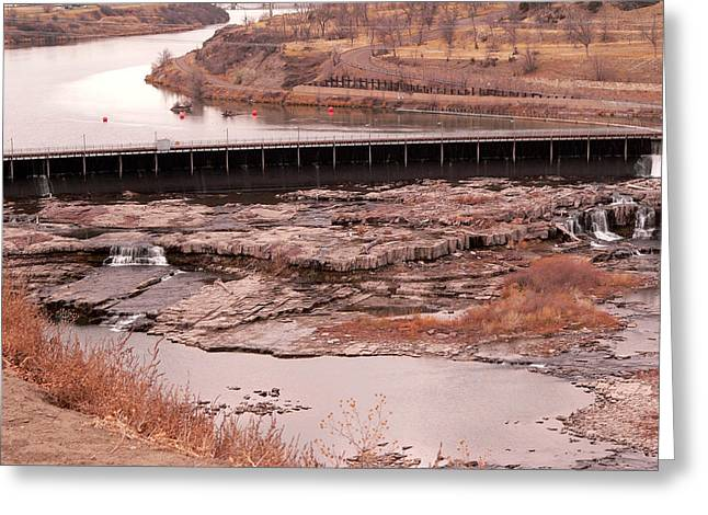 Great Falls Montana Greeting Card by David Bearden