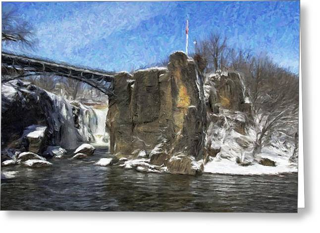 Great Falls Painted Greeting Card
