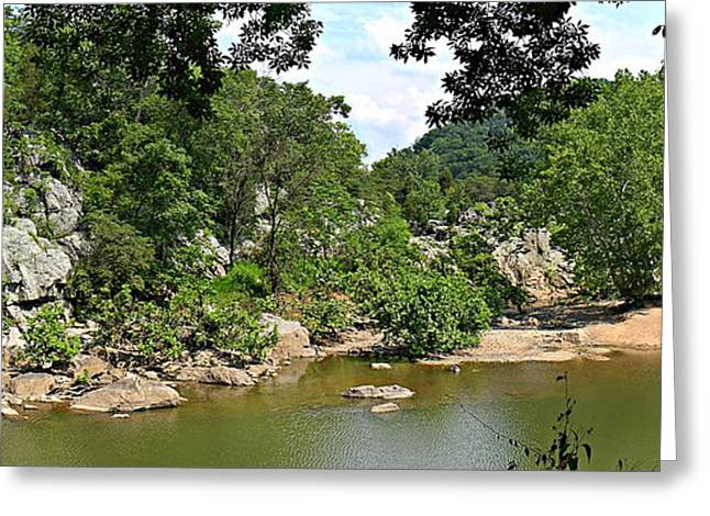 Great Falls Park - 121230 Greeting Card by DC Photographer