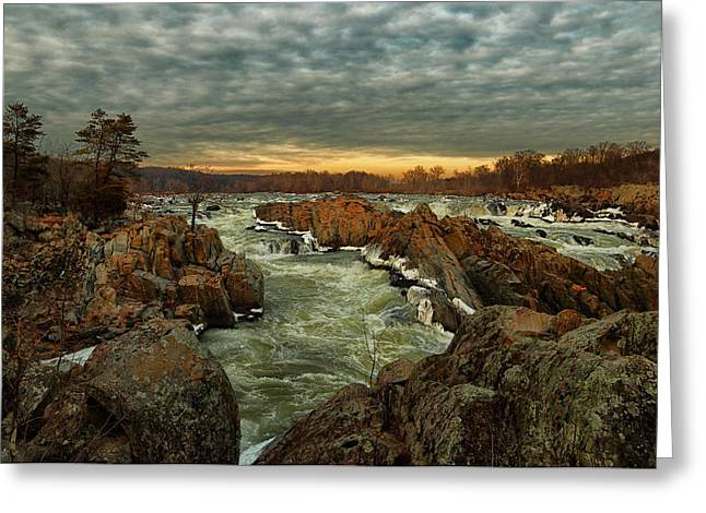 Great Falls Virginia Winter 2014 Greeting Card