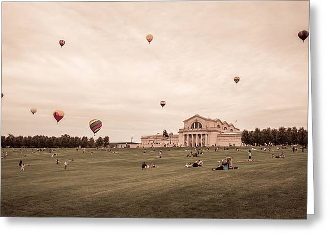 Great Forest Park Balloon Race Greeting Card by Scott Rackers