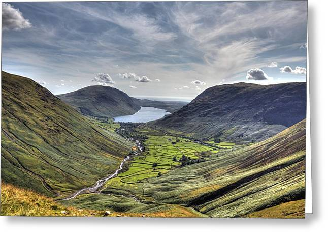 Great Gable Greeting Card by Chris Whittle