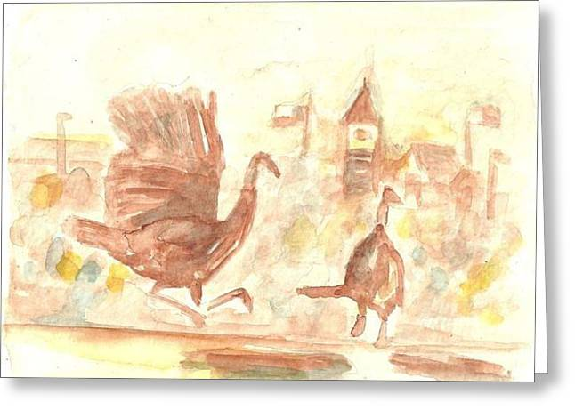 Great Gobbler Gallop Cuero Texas Greeting Card