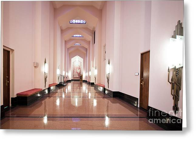 Greeting Card featuring the photograph Great Hall by Lawrence Burry
