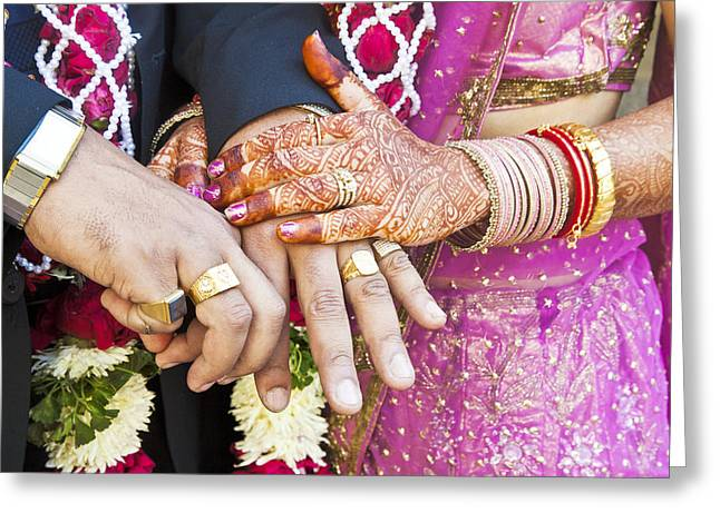 Great Hindu Wedding Now You Are Are Horizontall Greeting Card by Kantilal Patel