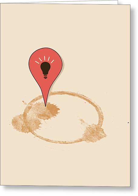 Great Idea Begins Here Greeting Card by Neelanjana  Bandyopadhyay