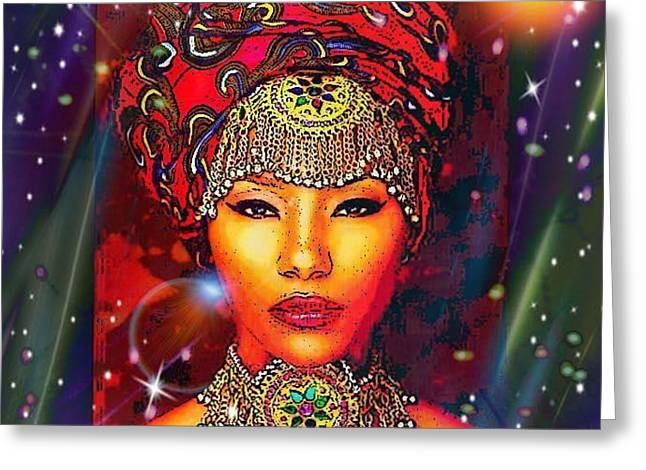 Great Lady Malkia Greeting Card