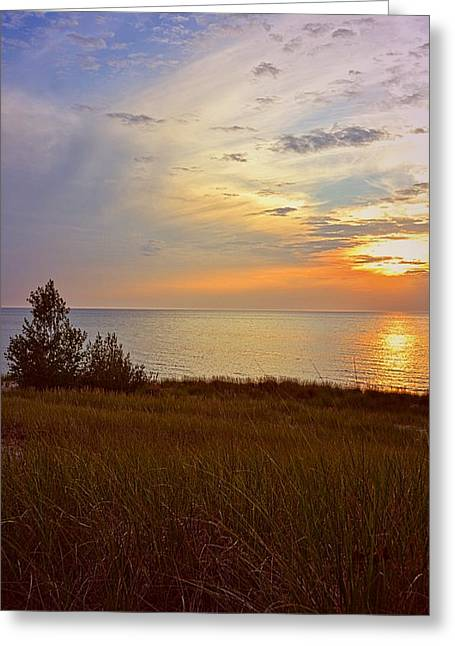 Great Lake Great Sunset Greeting Card by Michelle Calkins