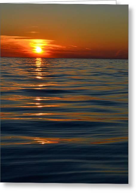 Great Lake Sunset Greeting Card