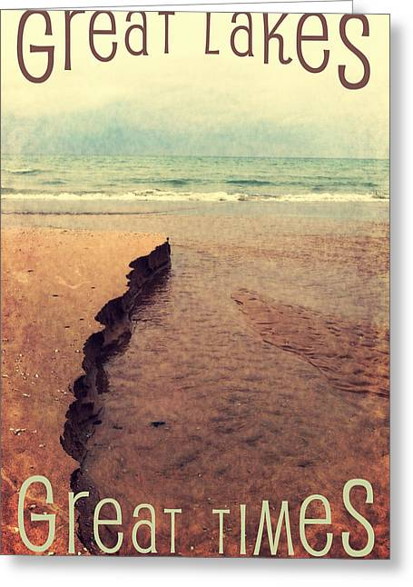 Great Lakes Great Times Greeting Card by Michelle Calkins
