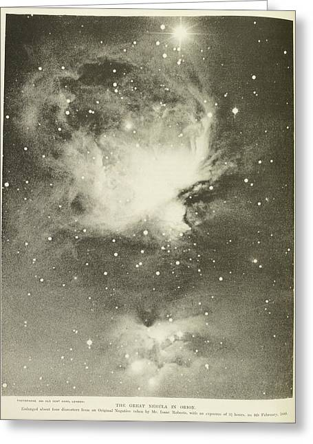 Great Nebula Of Orion Greeting Card by British Library
