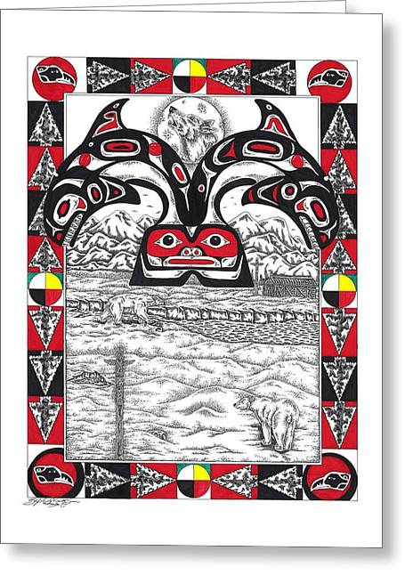 Great Northern Medicine Greeting Card by Louis McCollum