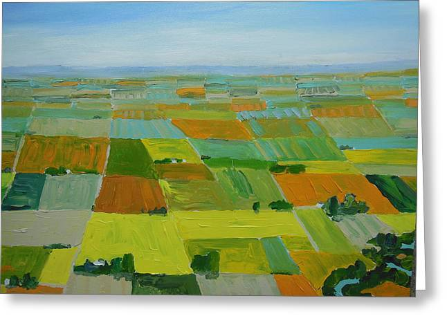 Great Plains Greeting Card by Rodger Ellingson