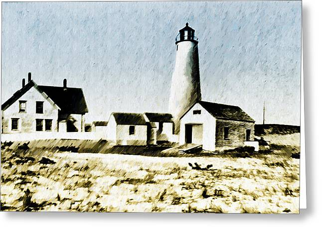 Great Point Lighthouse Nantucket Greeting Card by Bill Cannon