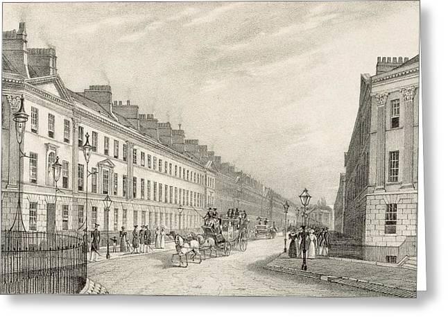 Great Pultney Street, Bath, C.1883 Greeting Card