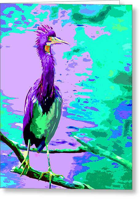 Great Purple Heron Greeting Card