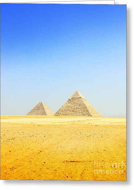 Greeting Card featuring the photograph Great Pyramid Of Giza by Mohamed Elkhamisy