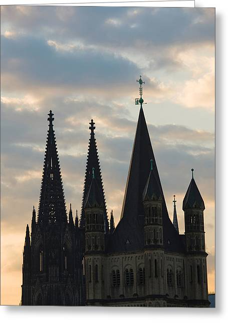 Great Saint Martin Church And Cologne Greeting Card