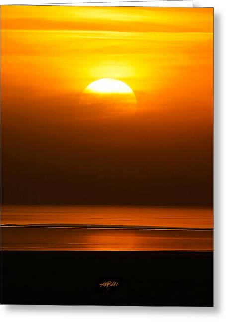 Great Salt Lake Sunset Greeting Card by Kirk Strickland
