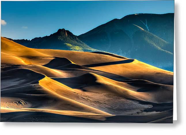 Great Sand Dunes At Dawn Greeting Card