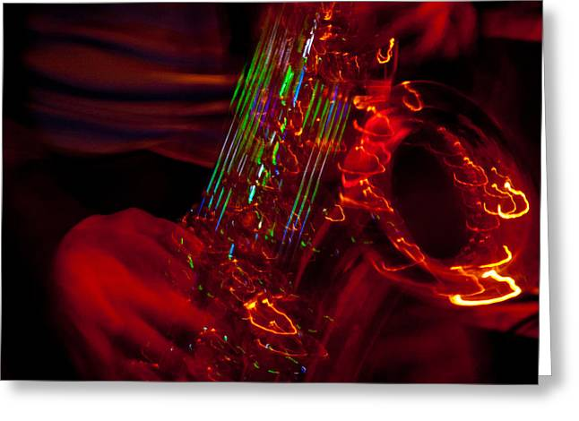Greeting Card featuring the photograph Great Sax by Alex Lapidus