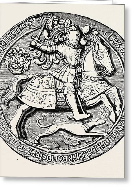 Great Seal Of Henry Viii Obverse Greeting Card