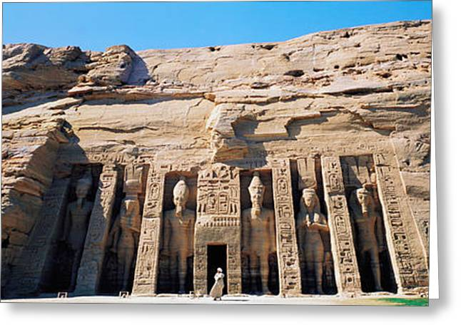 Great Temple Of Abu Simbel Egypt Greeting Card by Panoramic Images