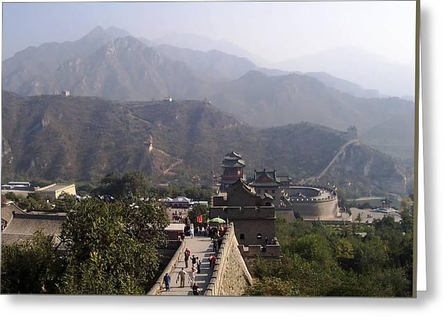 Great Wall Of China At Badaling Greeting Card