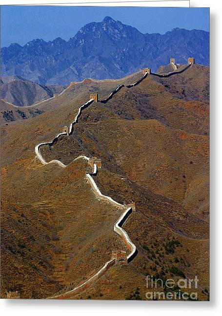 Great Wall Of China Greeting Card by Henry Kowalski