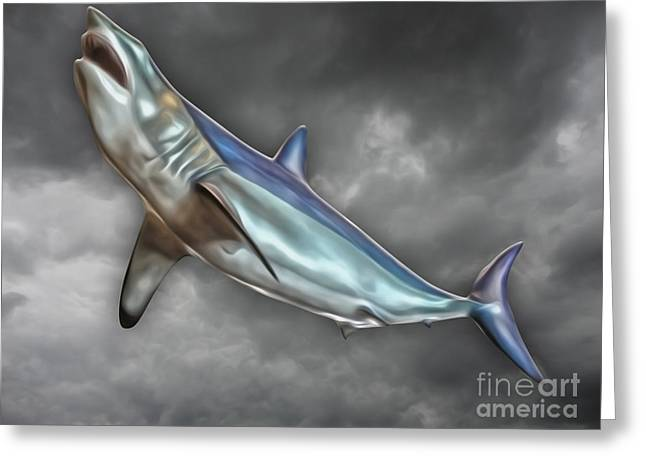 Great White Greeting Card by Gregory Dyer