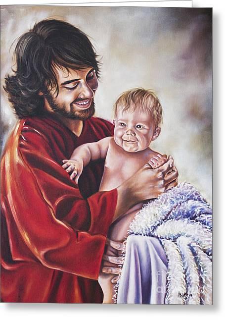 Greatest In The Kingdom Greeting Card by Ilse Kleyn