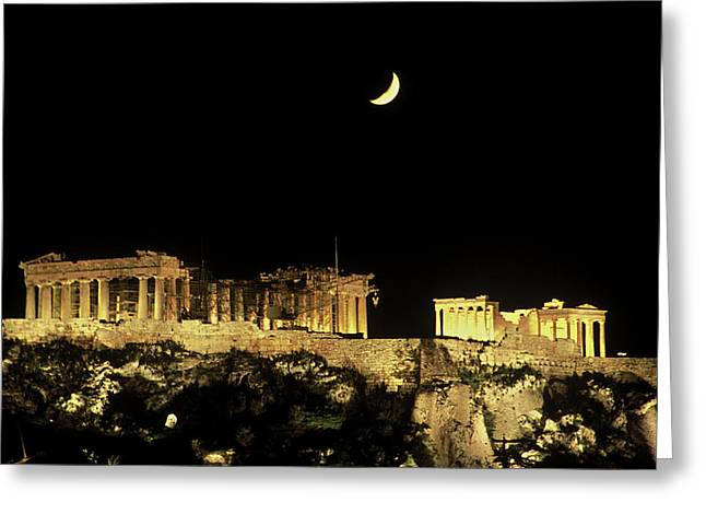 Greece, Athens, Acropolis Greeting Card by Jaynes Gallery