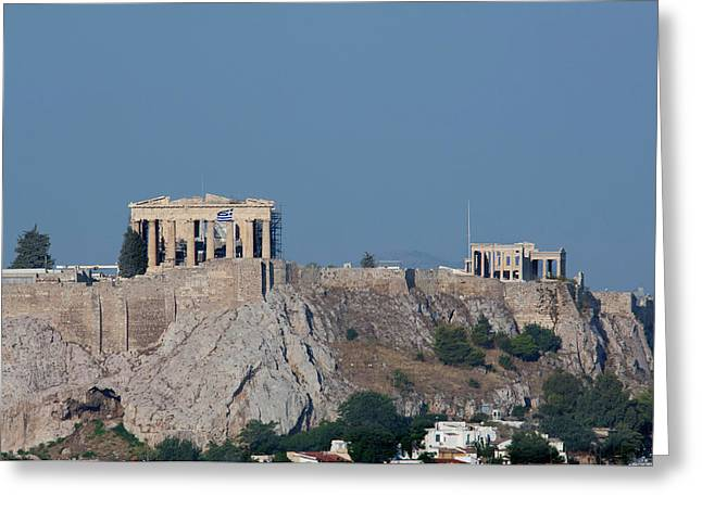 Greece, Athens Downtown Athens View Greeting Card by Cindy Miller Hopkins