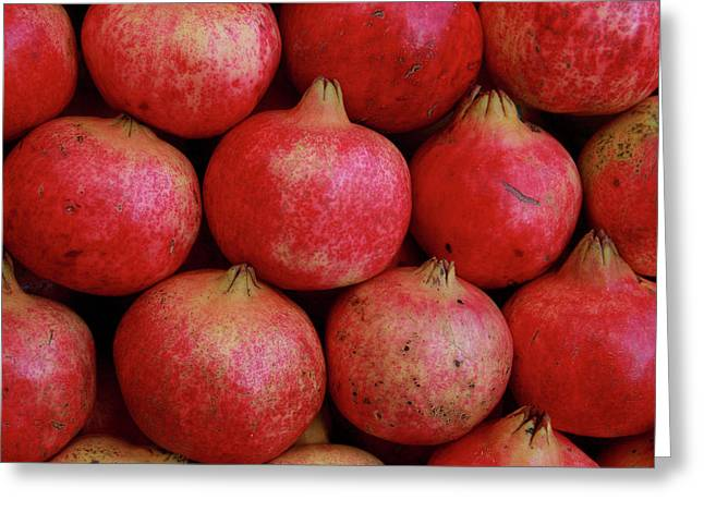 Greece, Athens Fresh Pomegranates Greeting Card by Jaynes Gallery