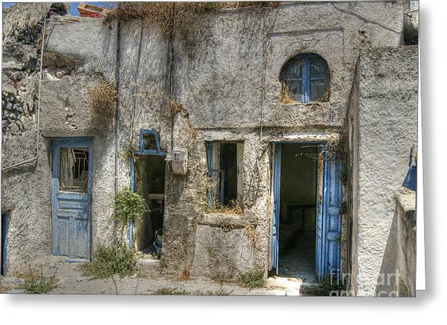 Greece Before The Tourists Greeting Card