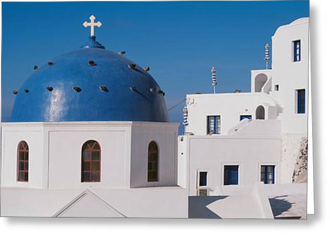 Greece, Santorini, Fira, Church Greeting Card by Panoramic Images
