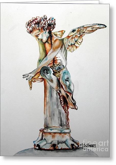 Greek Angel Greeting Card by Maria Barry