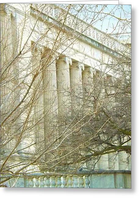 Greek Architecture Greeting Card by Brigitte Emme