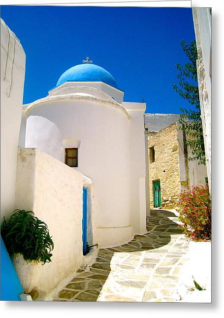 Greek Blue  Greeting Card