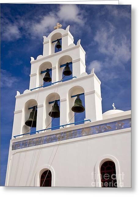 Greek Church Bells Greeting Card by Brian Jannsen