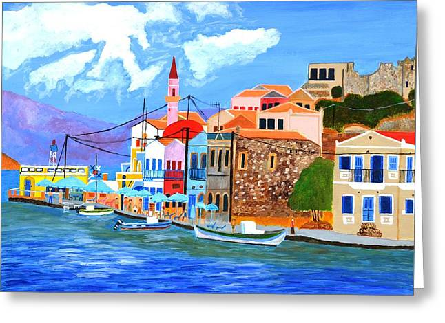 Greek Coast Greeting Card