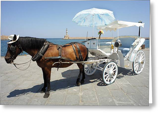 Greek Fantasies Greeting Card by Paul Cowan