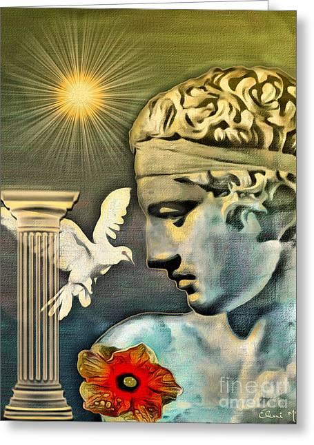 Greek God Greeting Card