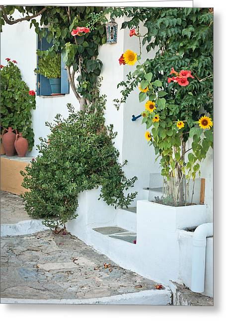 Greek House Greeting Card