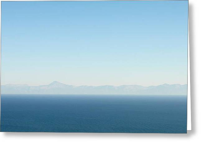 Greek Panorama Greeting Card by Tom Gowanlock