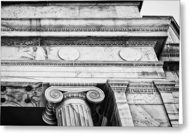 Greek Theatre 5 Bw Greeting Card by Angelina Vick