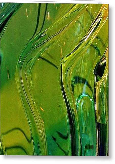 Green Abstract Greeting Card by Bruce Bley