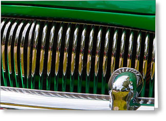 Greeting Card featuring the photograph Green And Chrome Teeth by Mick Flynn